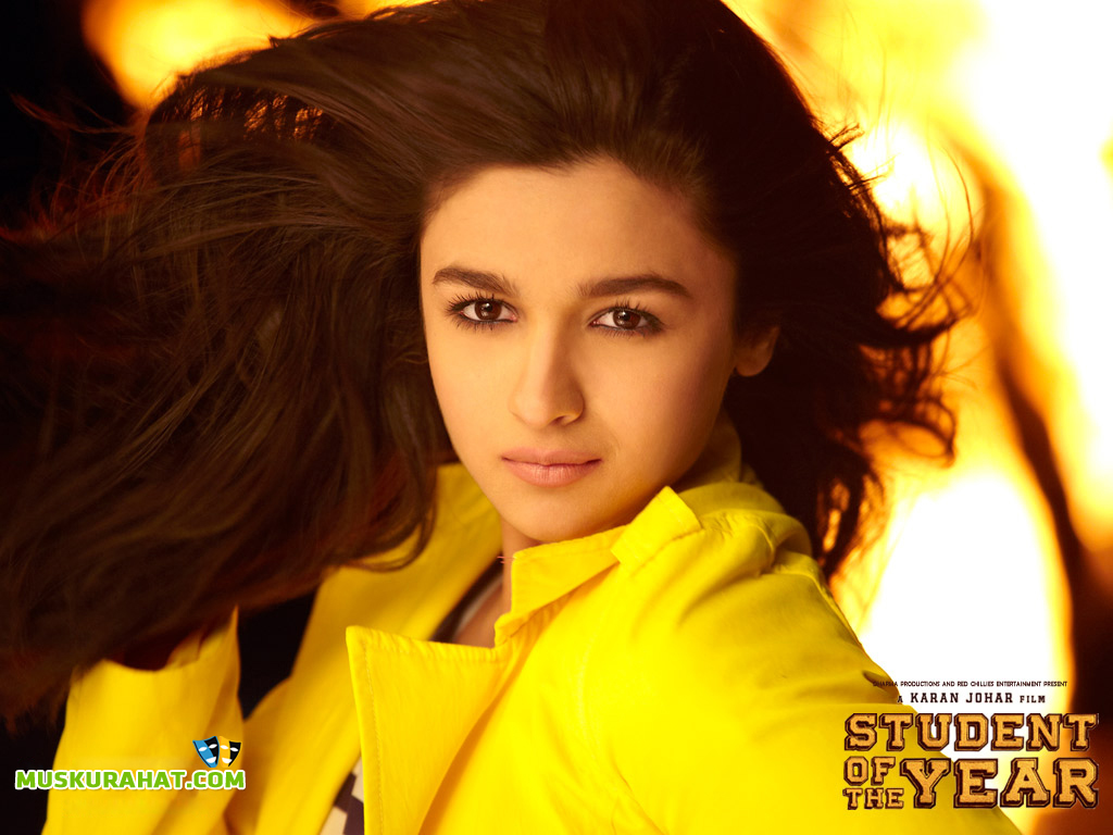 Alia Bhatt Birthday Hd: Student Of The Year Desktop Wallpaper (24430)